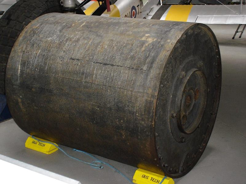 A real 'bouncing bomb' at Duxford Imperial War Museum - Credit: Martin Richards