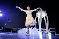 <p>Kim Yu-na, South Korean Figure Skater prepares to light the cauldron during the Opening Ceremony of the PyeongChang 2018 Winter Olympic Games at PyeongChang Olympic Stadium on February 9, 2018 in Pyeongchang-gun, South Korea. (Photo by Pool – David J. Phillip/Getty Images) </p>