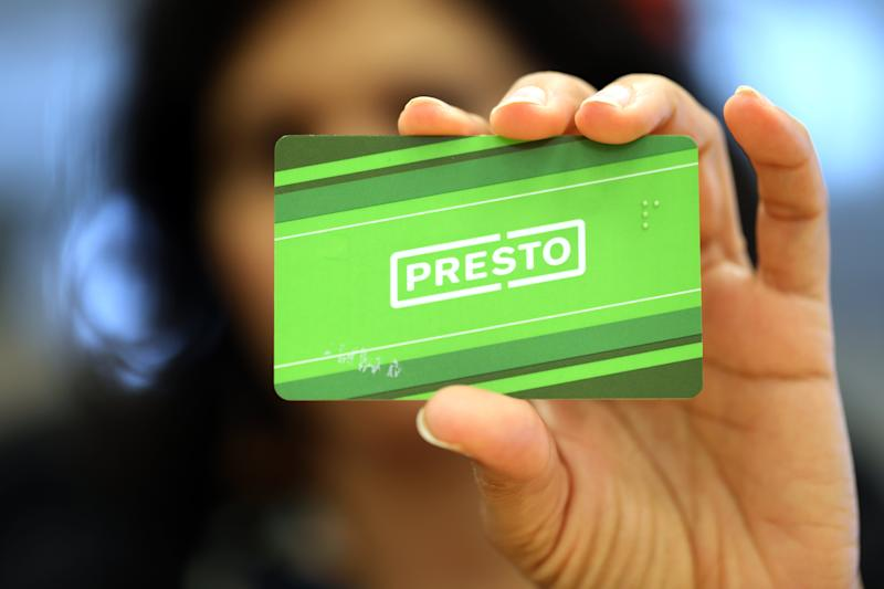 TORONTO, ON - May 8: Presto card. May 8, 2017. Randy Risling/Toronto Star (Randy Risling/Toronto Star via Getty Images)
