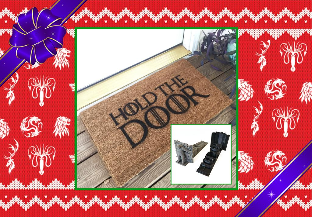 """<p>No <i>Game of Thrones</i> fan can forget Hodor's sacrifice, especially when his figurine is literally holding their door or when guests are crossing over this doormat. (Credit: <a rel=""""nofollow"""" href=""""https://www.etsy.com/listing/466576666/game-of-thrones-hold-the-door-mat?ref=market"""">Etsy.com</a> and <a rel=""""nofollow"""" href=""""https://www.etsy.com/listing/399412797/hodor-hold-the-door-doorstop?ga_order=most_relevant&ga_search_type=all&ga_view_type=gallery&ga_search_query=hodor&ref=sr_gallery_24"""">Etsy.com</a>) </p>"""
