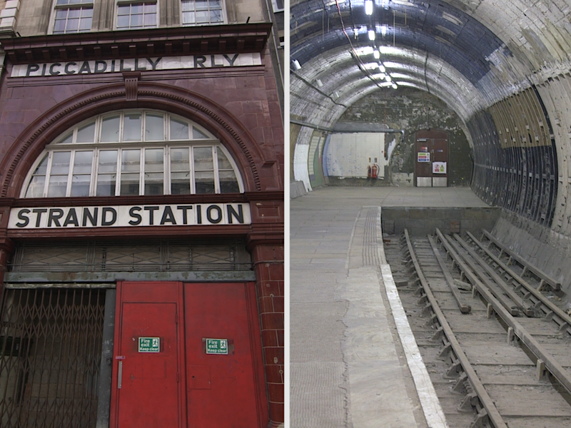 Inside London's abandoned Underground station that was used to hide British Museum treasures during WWII