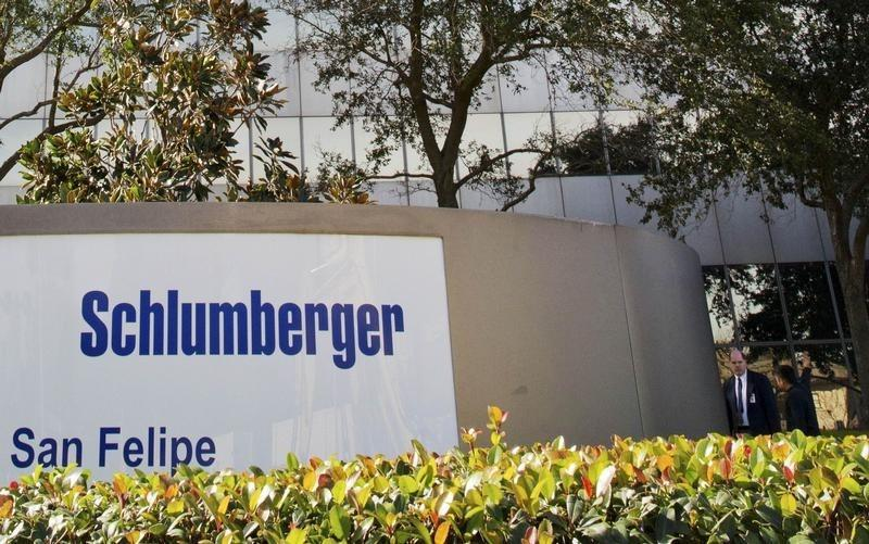 The exterior of Schlumberger headquarters building is pictured in the Galleria area of Houston