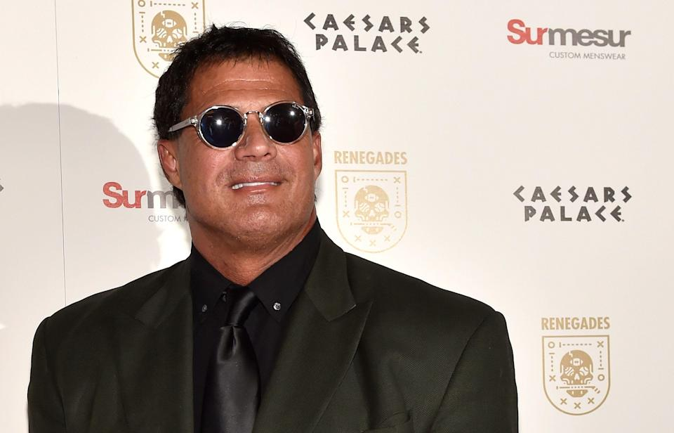 LAS VEGAS, NV - FEBRUARY 09:  Former Major League Baseball player Jose Canseco attends the grand opening of 'Renegades' at Caesars Palace on February 9, 2018 in Las Vegas. Nevada.  (Photo by David Becker/Getty Images)