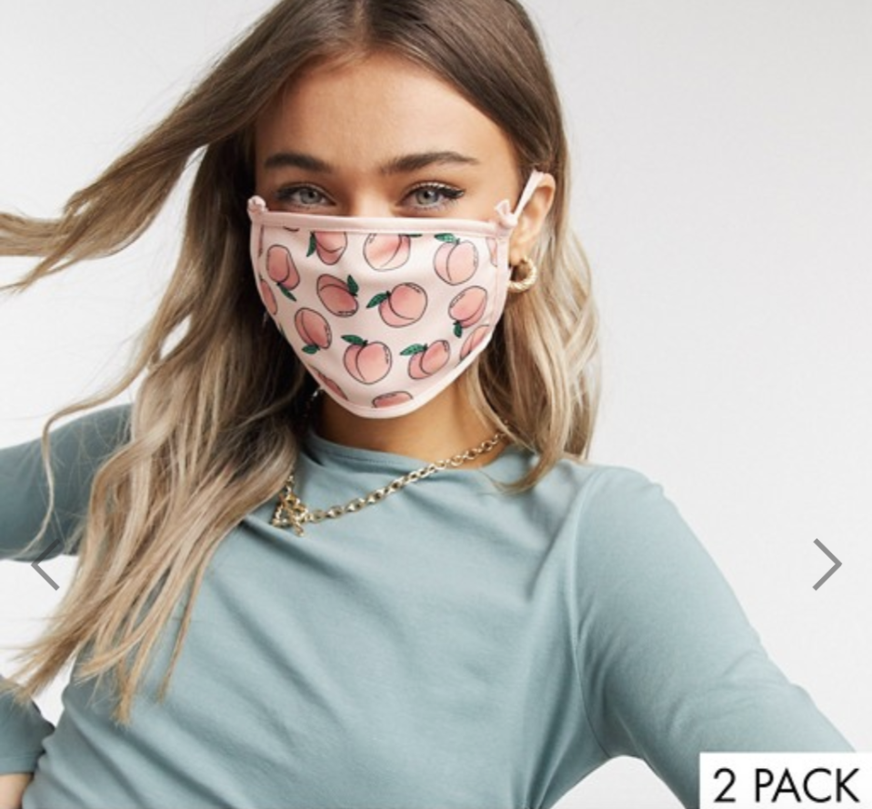 Skinnydip 2 pack face covering with adjustable straps, US$23. PHOTO: ASOS