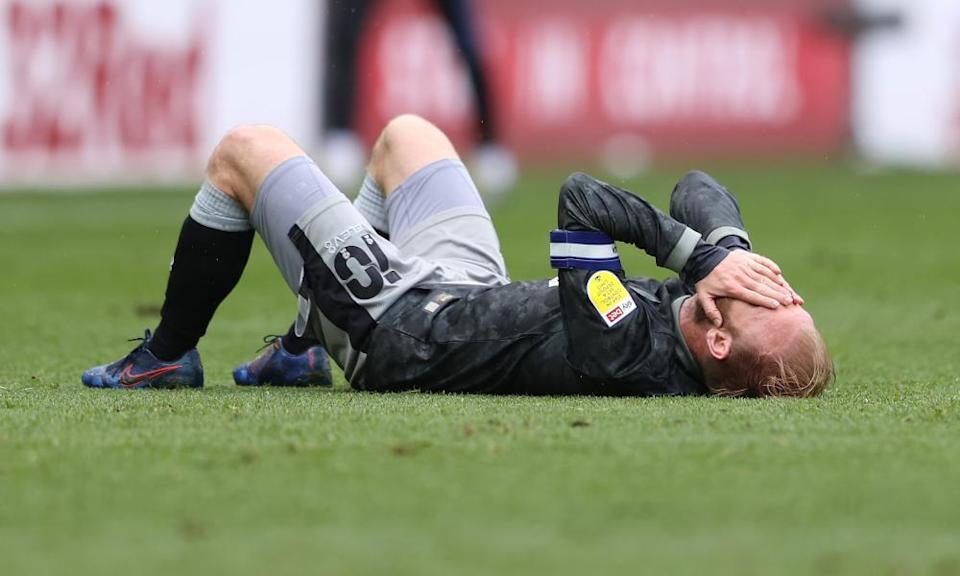 A shattered Barry Bannan of Sheffield Wednesday after relegation was confirmed for his side.