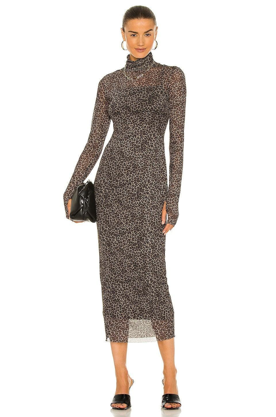 """<h2>AFRM Shailene Midi Dress</h2><br><strong><em>The Comfortably Out-Of-Your-Comfort-Zone Style</em></strong><br><br>Leopard print, sheer mesh fabric, and cheeky thumbholes are the fixings for a seriously fashion-forward fall dress. Even so, this is one style that you can feel confident in as you step outside of your sartorial comfort zone.<br><br><strong>The Hype: </strong>4 out of 5 stars; 17 reviews on Revolve.com<br><br><strong>What They're Saying</strong>: """"This is the BEST . I wasn't sure at all at first because I thought the material would be too fine and it looked a bit tricky to put on with the straps and armholes, I got it wrong a couple of times! Once I'd got it properly on however I fell in love. This dress is incredible - hugs every curve without being too tight or showy. Can't wait to style it with oxfords or heels/boots and a leather jacket for Fall evenings out. For sizing, I'm 5'11 and 185 lbs and DD's and I went with the medium based on reviews and it fits great, I think the large would have been too big! A great buy, especially for the price!"""" — Anonymous, Revolve reviewer<br><br><em>Shop</em> <strong><em><a href=""""https://www.revolve.com/afrm-shailene-midi-dress-in-vintage-leopard/dp/AFFM-WD18/"""" rel=""""sponsored"""" target=""""_blank"""" data-ylk=""""slk:Revolve"""" class=""""link rapid-noclick-resp"""">Revolve</a></em></strong><br><br><br><strong>AFRM</strong> Shailene Midi Dress, $, available at <a href=""""https://go.skimresources.com/?id=30283X879131&url=https%3A%2F%2Fwww.revolve.com%2Fafrm-shailene-midi-dress-in-vintage-leopard%2Fdp%2FAFFM-WD18%2F"""" rel=""""sponsored"""" target=""""_blank"""" data-ylk=""""slk:Revolve"""" class=""""link rapid-noclick-resp"""">Revolve</a>"""