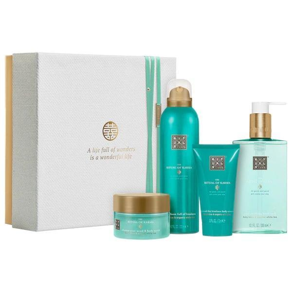 <p>If the thought of driving home for the holidays is <em>already</em> stressing you out, pick up this <span>Rituals The Ritual of Karma- Soothing Ritual</span> ($37) set and start a relaxation routine right at home, and then share the love with your family once you arrive. </p>