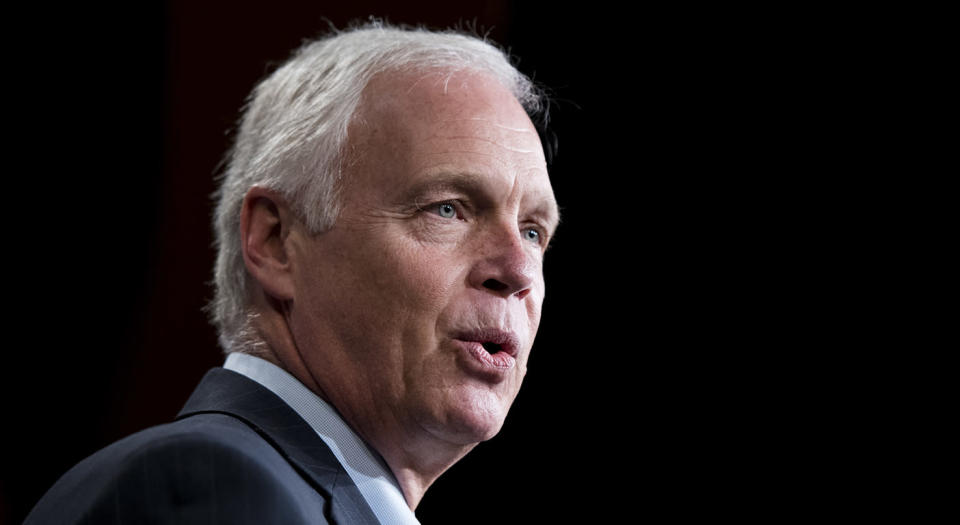 Government shutdown protests arguably include some Sen. Ron Johnson (R-Wisc.) when it comes to the president potentially declaring a national emergency. (Picture credit: Getty Images)