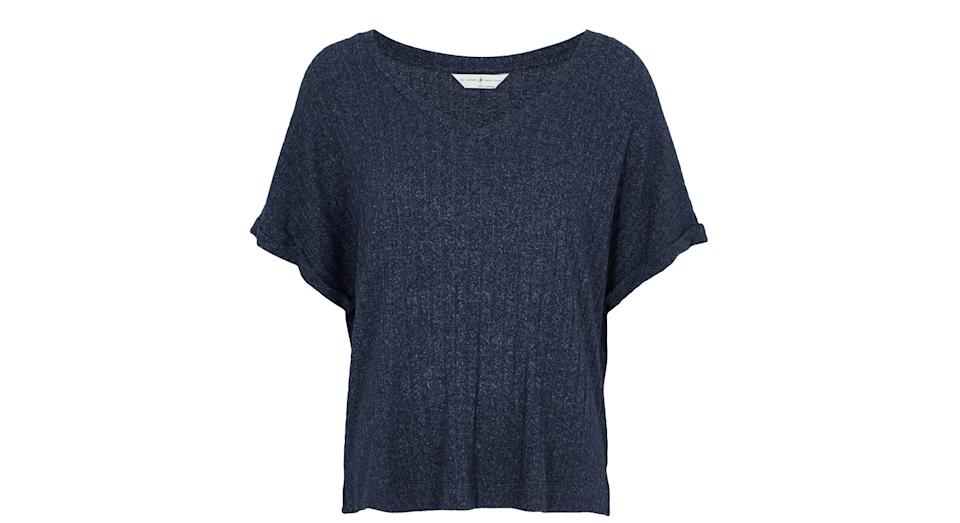 Cosy Knit Ribbed Lounge Top
