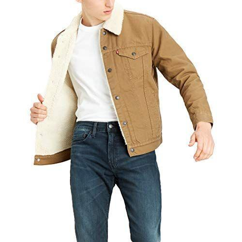"""<p><strong>Levi's</strong></p><p>amazon.com</p><p><strong>$79.99</strong></p><p><a href=""""https://www.amazon.com/dp/B0821GKCCZ?tag=syn-yahoo-20&ascsubtag=%5Bartid%7C10054.g.34073873%5Bsrc%7Cyahoo-us"""" rel=""""nofollow noopener"""" target=""""_blank"""" data-ylk=""""slk:Shop Now"""" class=""""link rapid-noclick-resp"""">Shop Now</a></p><p>I realize this article's focus has until now been on jeans, but I'd figure I'd take the time to intro you to your new favorite cozy jacket as well while it's on sale. Reviewers love Levi's lined truckers for their extra warmth and classic look. We feel the same way.</p>"""