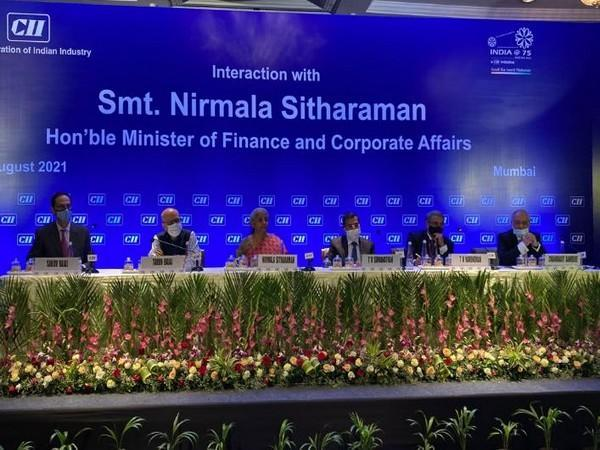 Finance Minister Nirmala Sitharaman during interaction with Industry captains
