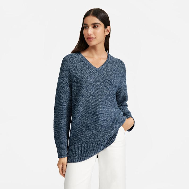 The Link-Stitch V-Neck Sweater