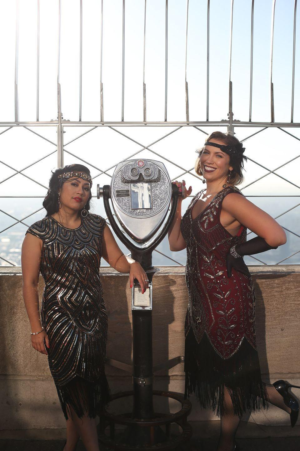 """<p>The roaring 20s are back (for one night only): Take a step back in time by wearing your finest flapper dresses, embellished headbands, and glitzy accessories to match. </p><p><em><a href=""""http://livingaftermidnite.com/2019/10/group-halloween-costumes-that-will-win-you-best-dressed.html"""" rel=""""nofollow noopener"""" target=""""_blank"""" data-ylk=""""slk:Get the tutorial at Living After Midnite >>"""" class=""""link rapid-noclick-resp"""">Get the tutorial at Living After Midnite >></a><br></em></p>"""