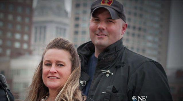 Roseann Sdoia is now engaged to the firefighter who helped save her, Mike Materia. Source: ABC