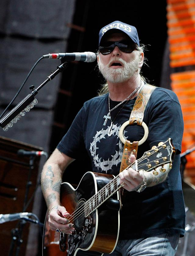 <p>Gregg Allman performs at Farm Aid on Randall's Island Sunday, Sept. 9, 2007 in New York. (AP Photo/Jason DeCrow) </p>