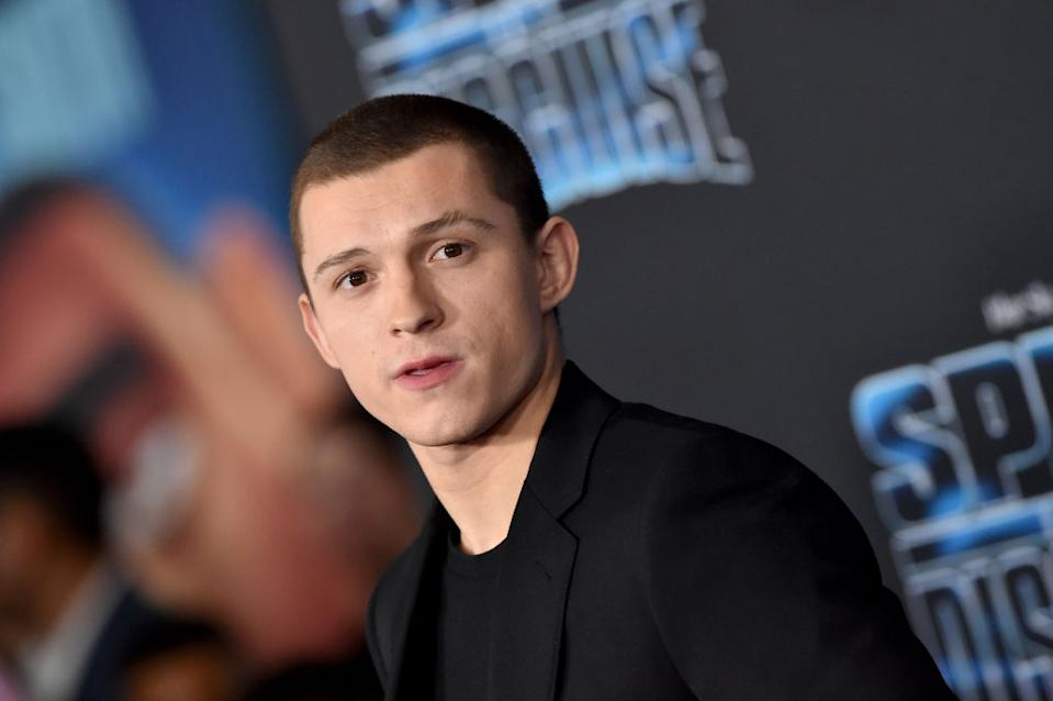 """LOS ANGELES, CALIFORNIA - DECEMBER 04: Tom Holland attends the premiere of 20th Century Fox's """"Spies in Disguise"""" at El Capitan Theatre on December 04, 2019 in Los Angeles, California. (Photo by Axelle/Bauer-Griffin/FilmMagic)"""