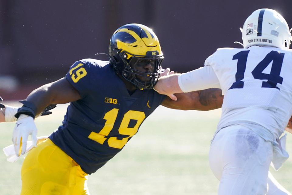 DE Kwity Paye was drafted 21st overall out of Michigan in April.