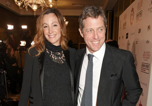 Hugh Grant and Anna Eberstein pictured earlier this year