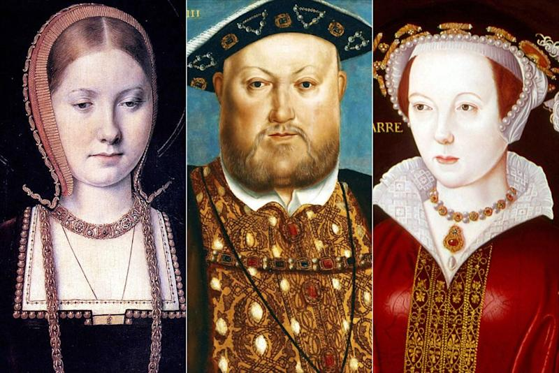 Queen Catherine of Aragon (left), Henry VIII, Catherine Parr | Universal History Archive/UIG/Shutterstock (3)
