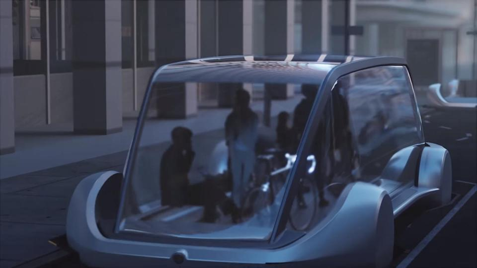 Elon Musk's Boring Company to prioritize pedestrians over cars. (image: Engadget)