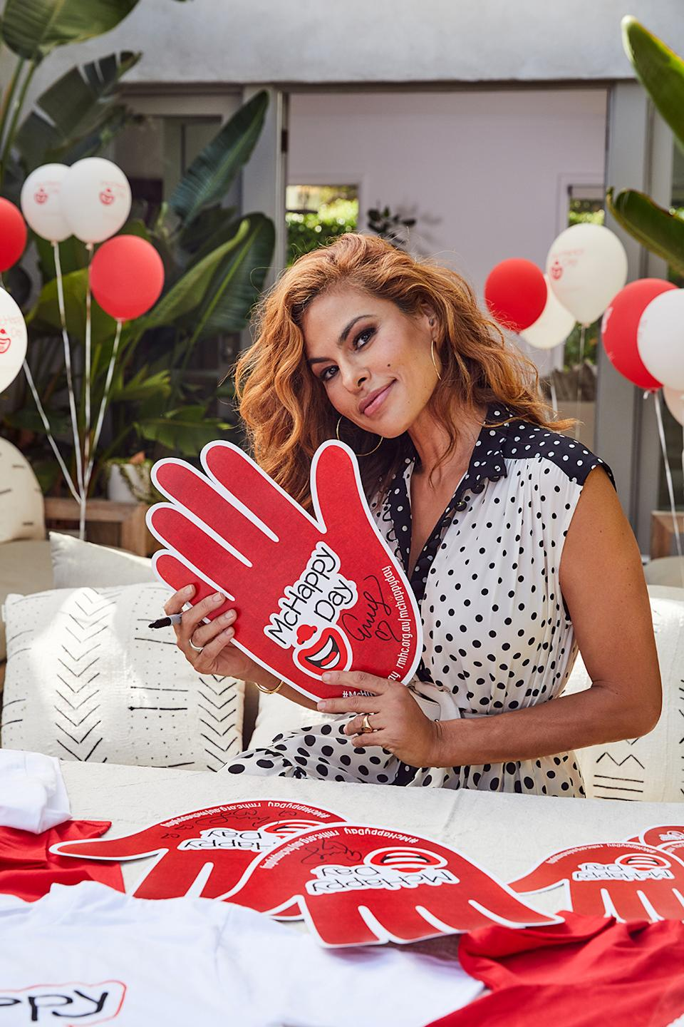Eva Mendes as the McHappy Day ambassador for 2020