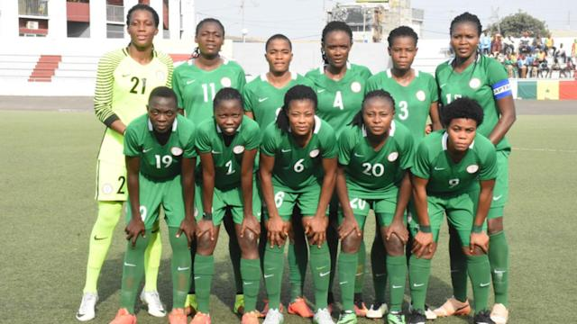 The forward's first-half strikes were all Thomas Dennerby's ladies needed to hand the African champions victory over the Female Eagles