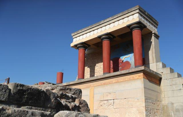 The Bronze Age archaeological site of Knossos in Crete.