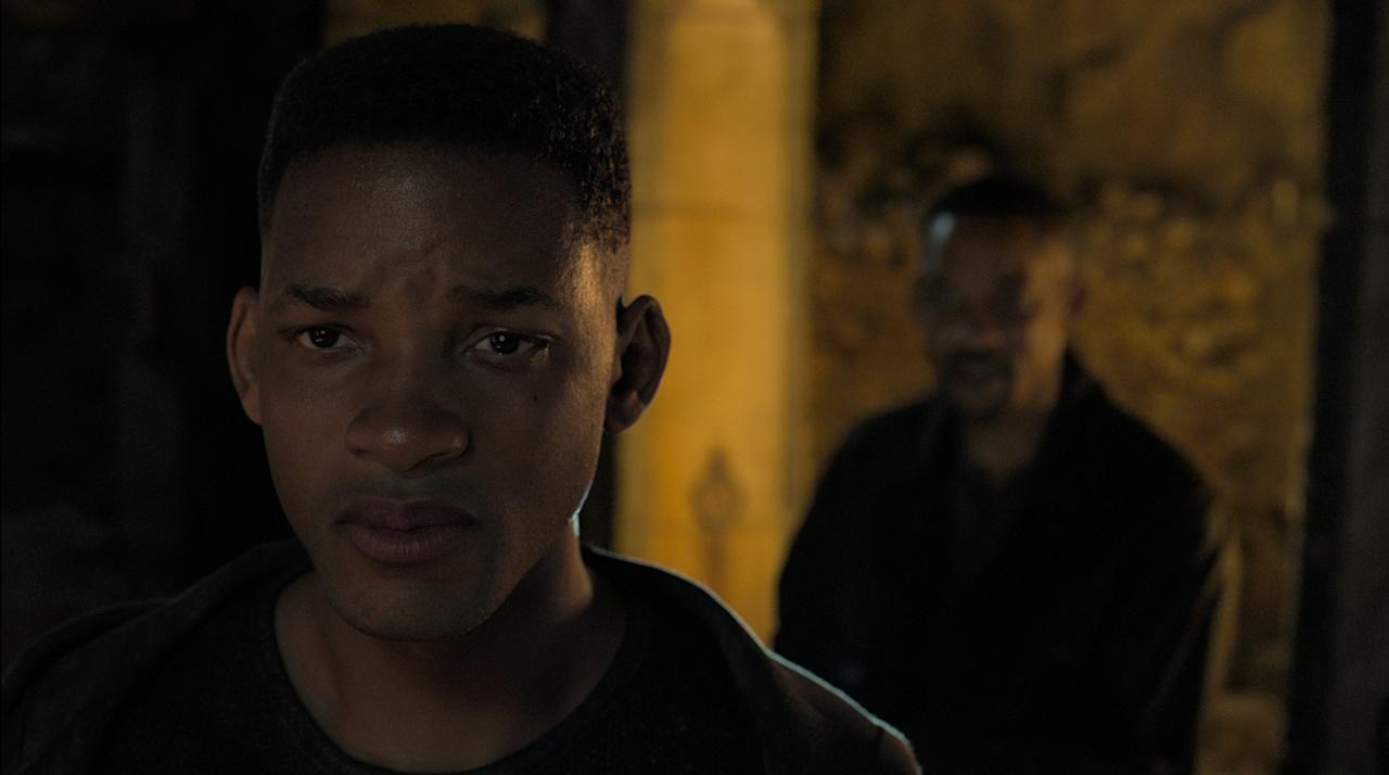 <p><strong>October 11</strong></p> <p>This action-thriller stars Will Smith as Henry Brogan, a top-notch government assassin being targeted by a mysterious operative who's always anticipating his next move. The plot takes a twist when the operative turns out to be a younger clone of himself (think <em>The </em><em>Fresh Prince of Bel-Air</em>) — who has all of his talents without his emotional baggage.</p>