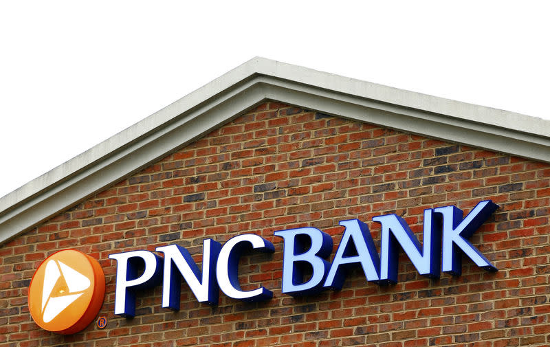 FILE PHOTO: The logo above a PNC Bank is shown in Charlotte
