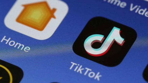 PHOTO: File photo of the Tik Tok app displayed on an Apple iPhone. (Justin Sullivan/Getty Images)