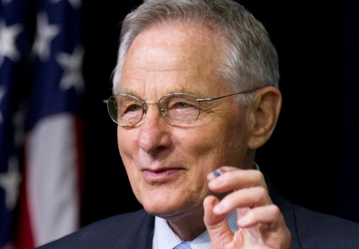 Former Sen. Birch Bayh (D-Ind.), who pushed for the landmark 1972 federal law banning discrimination against women in college admissions and athletics, died on March 14, 2019. He was 91.