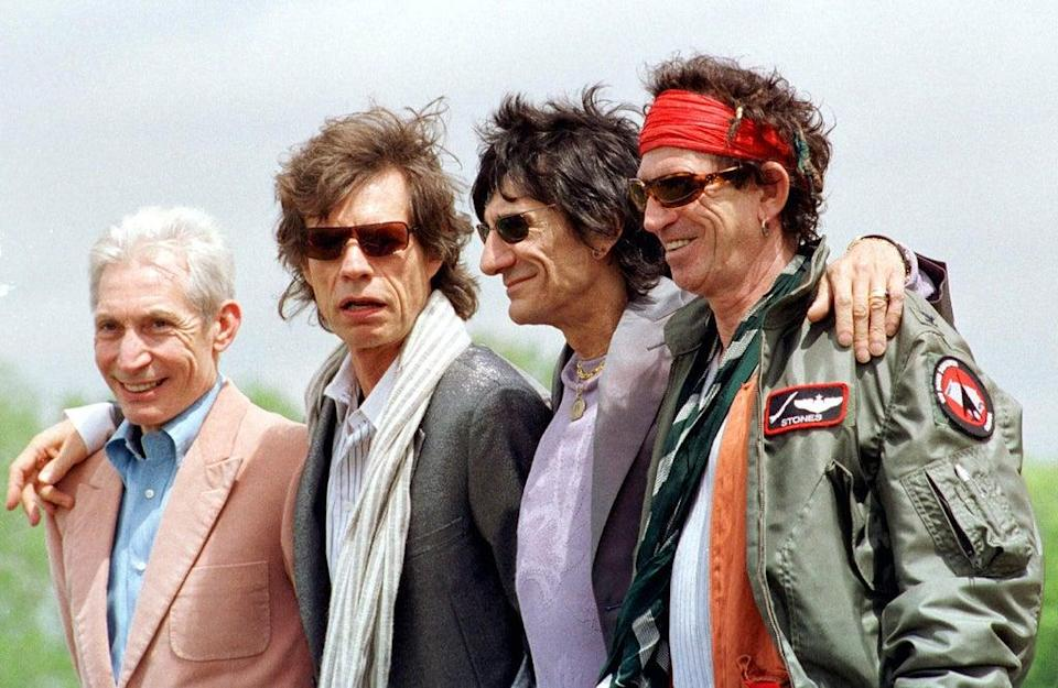 The Rolling Stones during a press conference for their World Tour 2002/2003 (PA) (PA Wire)