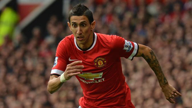 Angel Di Maria saat membela Manchester United. (AFP/Paul Ellis)