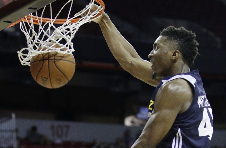 Utah Jazz rookie guard Donovan Mitchell could be the steal of the draft. (AP)