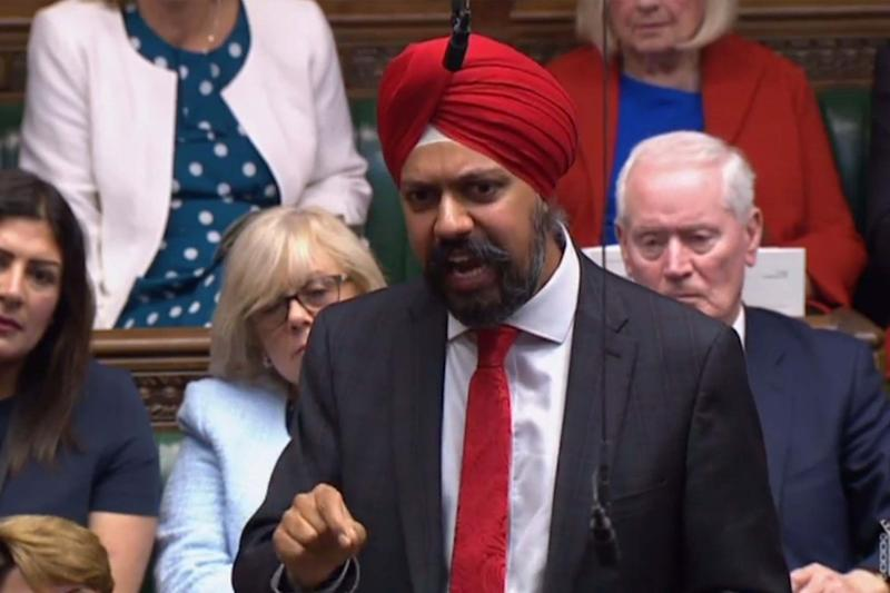 Labour MP Tanmanjeet Singh Dhesi in the Commons (AFP/Getty Images)