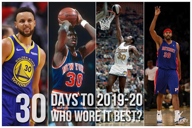 Which NBA player wore No. 30 best?