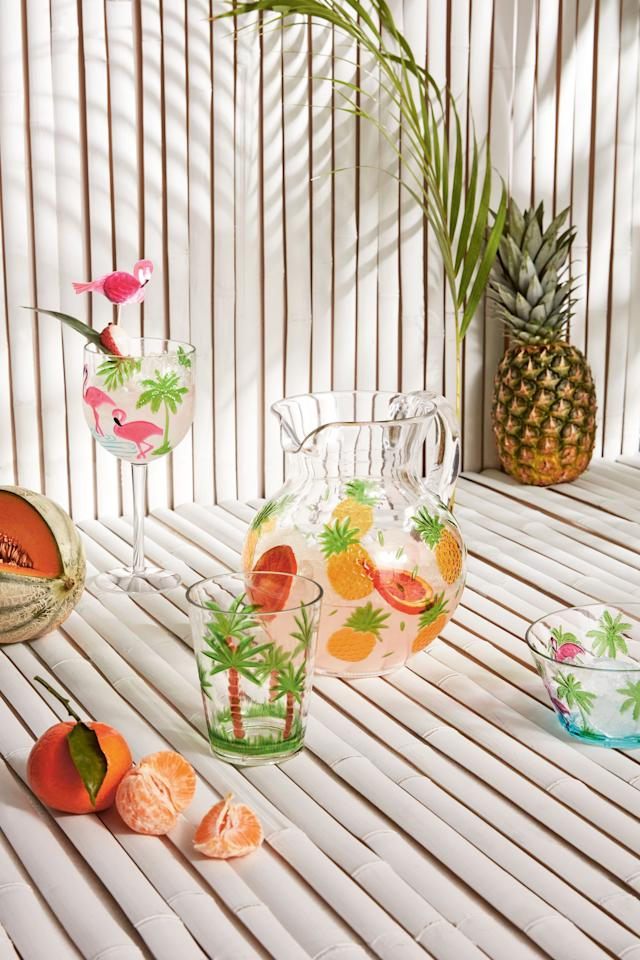 <p><strong>Marks & Spencer's £3.50 flamingo wine glasses sold out last week after being spotted on ITV2's <em>Love Island </em>– but you won't have to wait too long for a second chance to get your hands on it.</strong></p><p>It turns out our favourite islanders have been sipping from the high street brand's playful new picnicware in the Spanish villa, and fans of the show have been keen to 'recreate the look'. Well, good news, the team at M&S have confirmed to <strong><em>House Beautiful</em></strong> that it will be back in stock 'in two weeks time'. Though it could easily sell out again just as fast, so you'll have to keep your eye on this one.</p><p>In the meantime, we've selected some of our favourite outdoor dining tableware from M&S this summer. From plates to jugs and multi-coloured bowls, there is something here for everyone. Prices start from just £3 so you certainly won't want to miss out...</p>