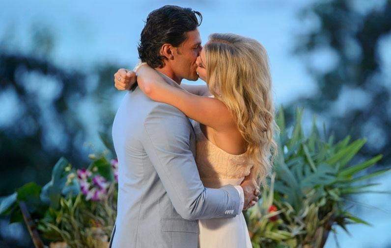 Tim and Anna found love on the first season of The Bachelor Australia in 2013. Source: Channel Ten