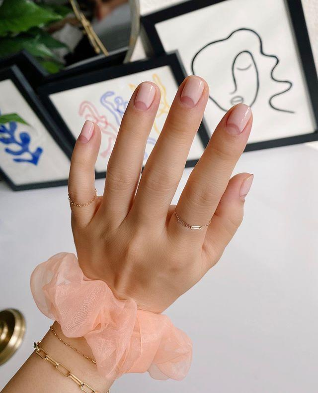 """<p>One for the uber modern brides, a latte coloured varnish and bare cuticles is the perfect way to accessorise a wedding ring.</p><p><a href=""""https://www.instagram.com/p/CCmCyHuH7t3/?utm_source=ig_embed&utm_campaign=loading"""" rel=""""nofollow noopener"""" target=""""_blank"""" data-ylk=""""slk:See the original post on Instagram"""" class=""""link rapid-noclick-resp"""">See the original post on Instagram</a></p>"""