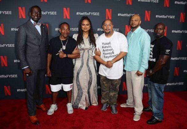 PHOTO: From left, Yusef Salaam, Korey Wise, Ava DuVernay, Raymond Santana, Kevin Richardson and Antron McCay are shown as they attend Netflix's FYSEE event for 'When They See Us' on June 09, 2019, in Los Angeles. (David Livingston/Getty Images)