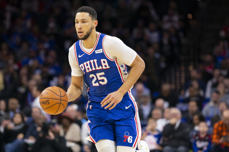 Ben Simmons did the unthinkable Wednesday with a 3-point shot against the New York Knicks. (Mitchell Leff/Getty Images)