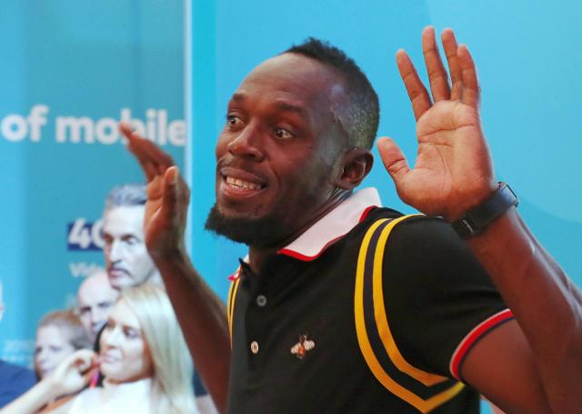 Gold Coast 2018 Commonwealth Games - Gold Coast, Australia - April 12, 2018. Former Jamaican sprinter Usain Bolt attends a press conference. REUTERS/David Gray