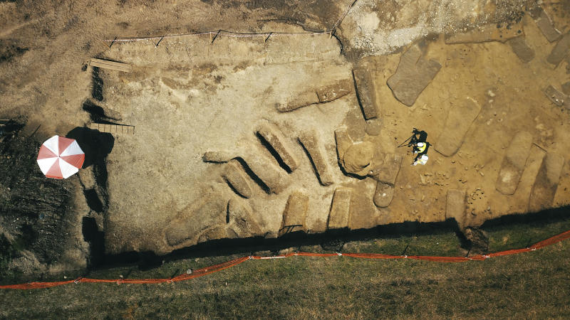Archaeology find: Ancient Albania cemetery graves unearthed in excavation.