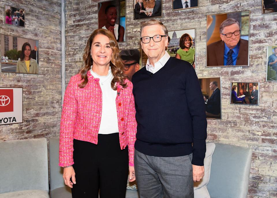 Bill and Melinda Gates have announced they are to divorce, pictured in February 2019. (Getty Images)
