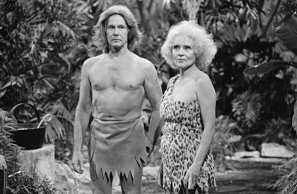 <p>She would go on to appear on <em>The Carol Burnett Show </em>and in sketches on <em>The Tonight Show Starring Johnny Carson. </em>Right, White and Carson dress as Tarzan and Jane in 1981. </p>