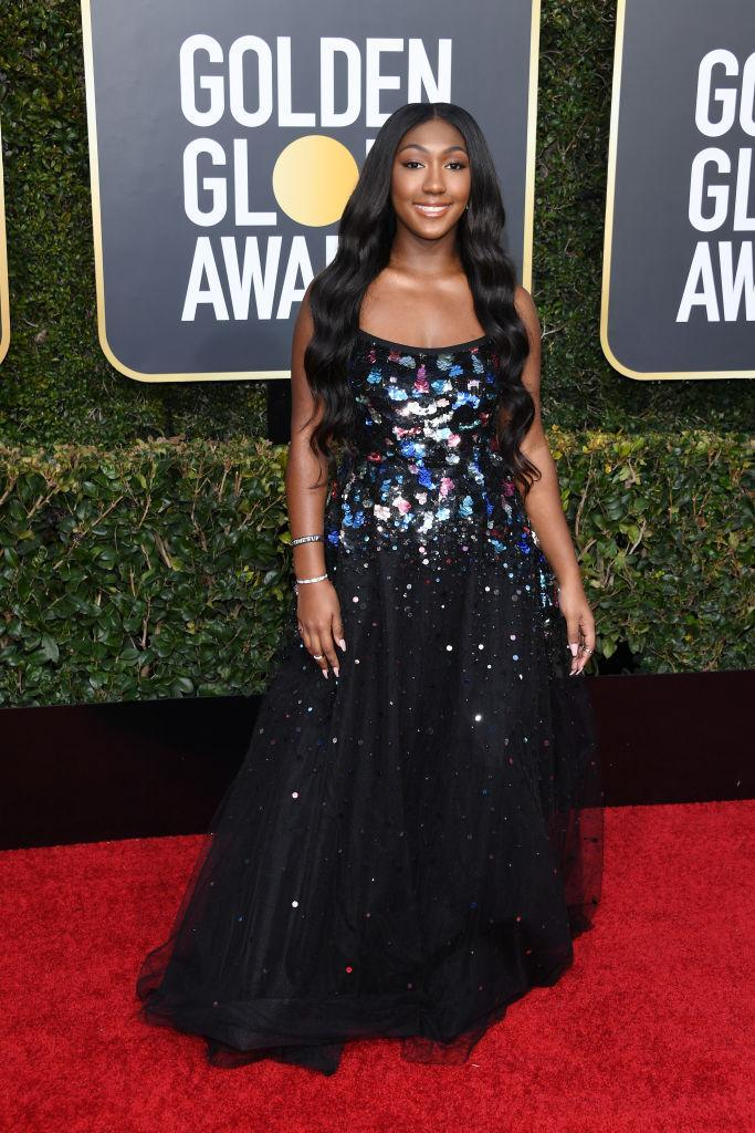 """<p>Isan Elba, the daughter of Idris Elba and the <a rel=""""nofollow"""" href=""""https://www.yahoo.com/entertainment/idris-elbas-daughter-isan-totally-weirded-named-sexiest-man-alive-things-know-new-2019-golden-globe-ambassador-203424660.html"""" data-ylk=""""slk:2019 Golden Globes ambassador;outcm:mb_qualified_link;_E:mb_qualified_link;ct:story;"""" class=""""link rapid-noclick-resp yahoo-link"""">2019 Golden Globes ambassador</a>, attends the 76th Annual Golden Globe Awards at the Beverly Hilton Hotel in Beverly Hills, Calif., on Jan. 6, 2019. (Photo: Getty Images) </p>"""