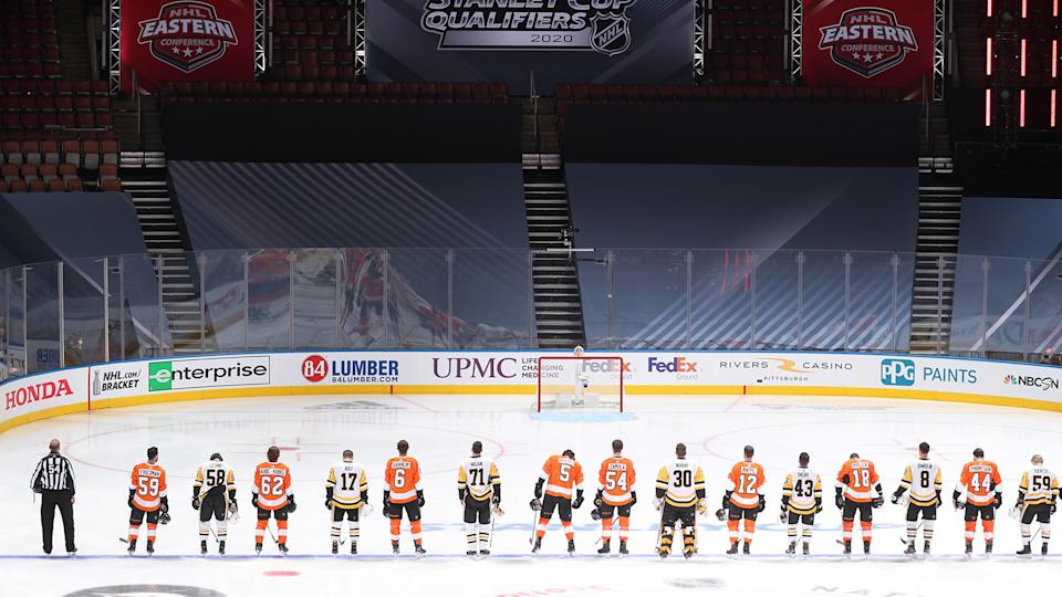 Performative gestures by the NHL and its teams regarding Black lives won't held up well against critical examination. (Photo by Chase Agnello-Dean/NHLI via Getty Images)
