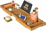 """<p><strong>ROYAL CRAFT WOOD</strong></p><p>amazon.com</p><p><strong>$36.09</strong></p><p><a href=""""https://www.amazon.com/dp/B01C4IS4Q2?tag=syn-yahoo-20&ascsubtag=%5Bartid%7C10050.g.1416%5Bsrc%7Cyahoo-us"""" rel=""""nofollow noopener"""" target=""""_blank"""" data-ylk=""""slk:Shop Now"""" class=""""link rapid-noclick-resp"""">Shop Now</a></p><p>She'll feel like a queen with this bathtub caddy. Featuring a holder for a book and several other handy compartments, it's a guaranteed winner.</p>"""