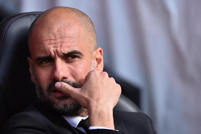 """I'm going to see the game to see United because we play them in 10 days and I want to see how they play in case I can discover something,"" said Manchester City's Spanish manager Pep Guardiola ahead of United's match against Chelsea (AFP Photo/Glyn KIRK)"