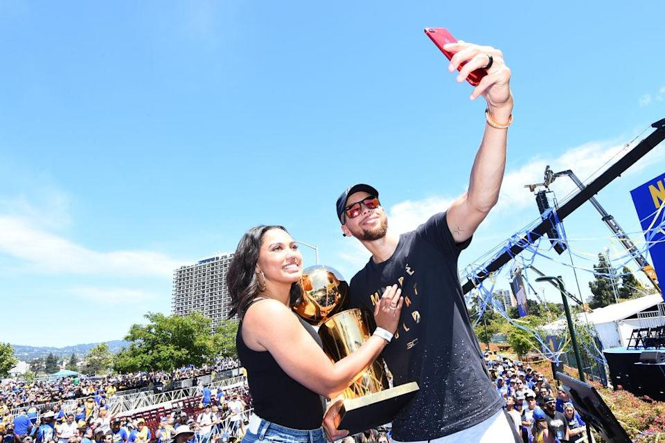 "Ayesha Curry's restaurant is paying for <a class=""link rapid-noclick-resp"" href=""/nba/players/4612/"" data-ylk=""slk:Stephen Curry"">Stephen Curry</a>'s championships. (Getty Images)"